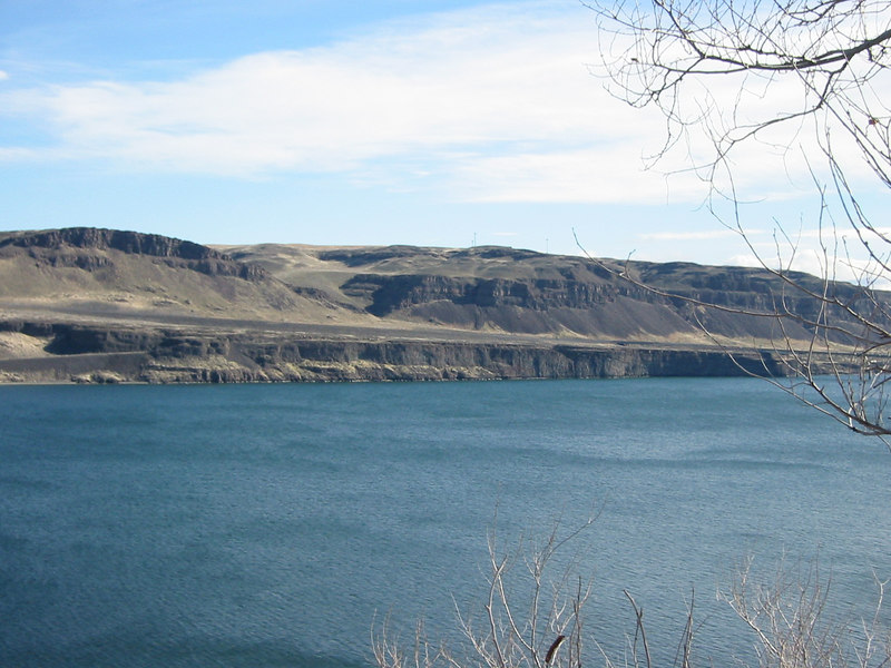 View of the Columbia River from the visitor's center