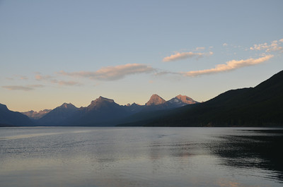 Lake McDonald at sunset.  Glacier National Park.