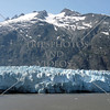 A view of the mountain and the Glacier Bay in Alaska.