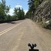 Uphill view - bike headlight