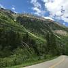 Riding bikes toward the pass