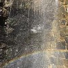 Slow-motion waterfall rainbo