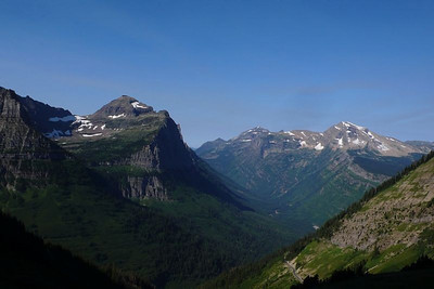 This is the valley that Going to the Sun Road climbs to Logan Pass.