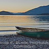 This and frame following, whitefish lake at Sunset, Whitefish, Montana