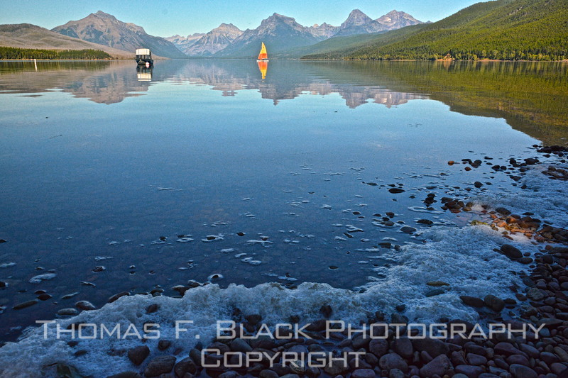 This and two frames following, lake McDonald