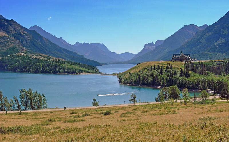 Upper Waterton Lake, Prince of Wales Hotel - Waterton Lakes National Park
