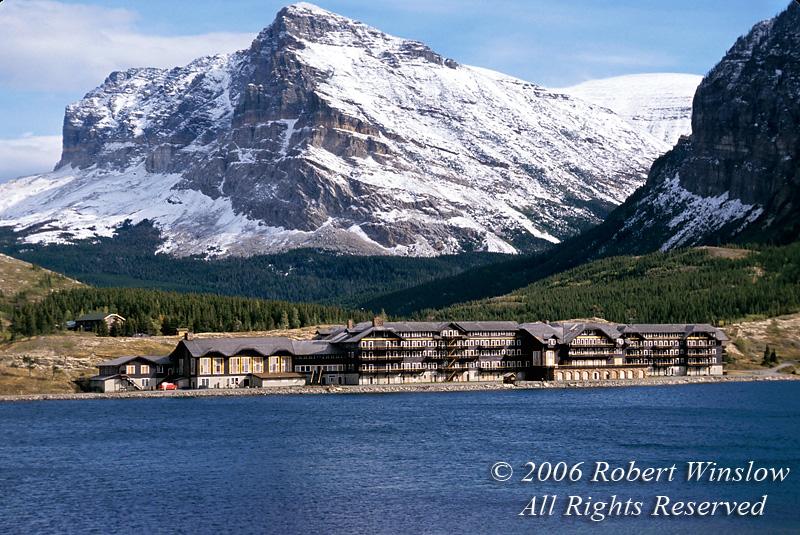 Many Glacier Hotel, Glacier National Park, Montana, USA, North America