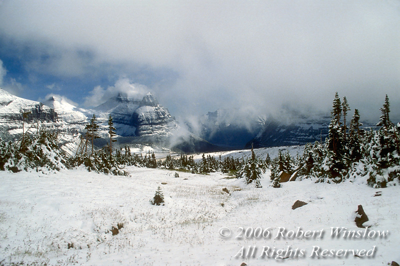 Springtime Snow, Logan Pass Area, Glacier National Park, Montana