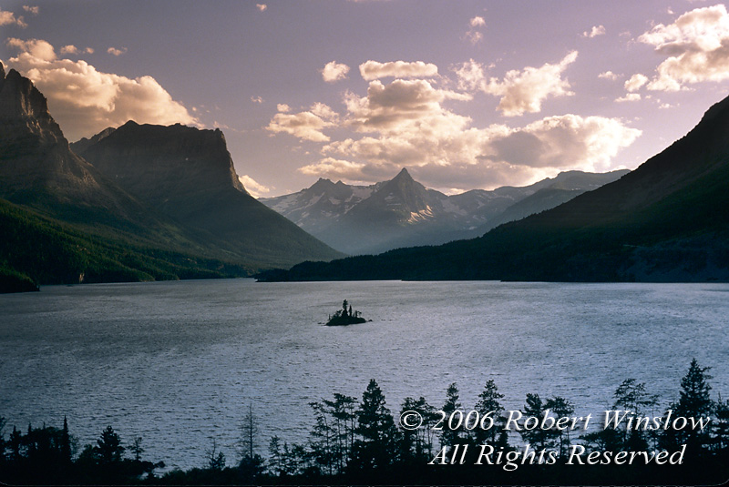Saint Mary Lake, Glacier National Park, Montana, USA, North America