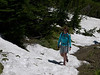 A little snow on the hike to Iceberg Lakger.