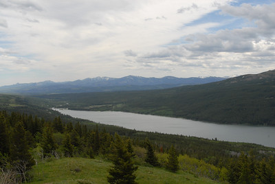 Lower Two Medicine Lake, viewed from Route 49.