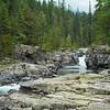 Rocks and stream, Glacier National Park