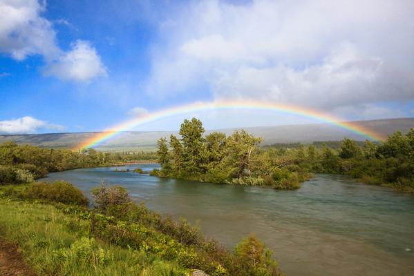 Glacier National Park Rainbow