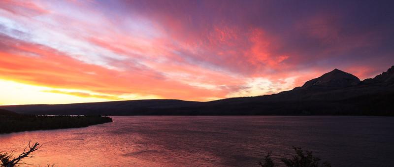 Sunrise over St. Mary's Lake
