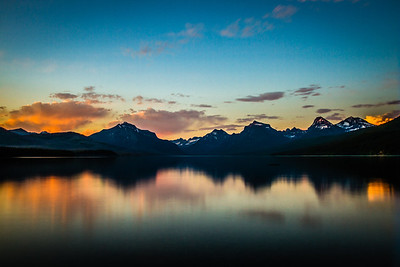 Lake McDonald Sunset (Gritty Preset)