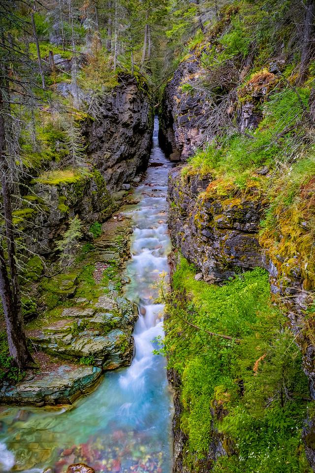 Sunrift Gorge, Glacier National Park