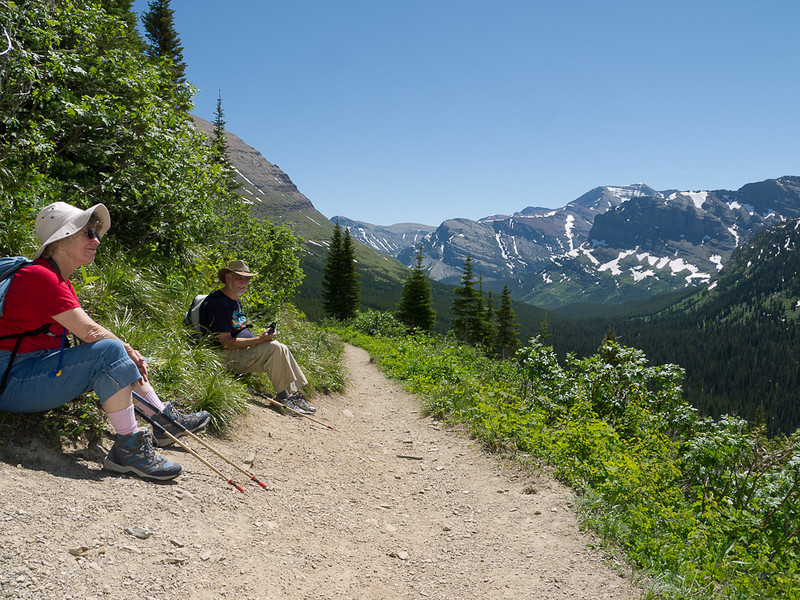 More resting on Grinnell Glacier Trail.