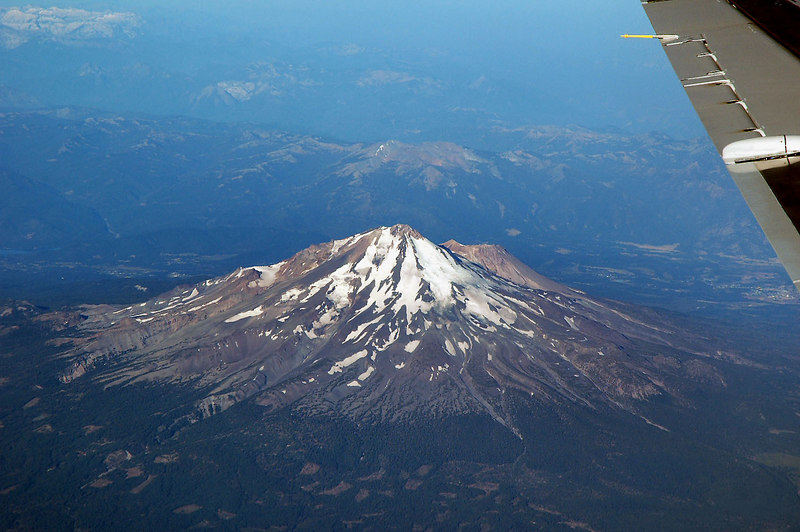 We got a great view of the east side of Mount Shasta.