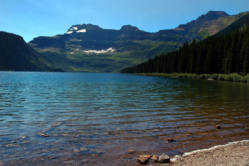 Cameron Lake. The ridge on the far side of the lake is in Montana.