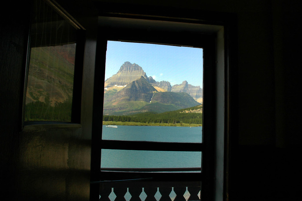 A view out the door to the balcony.