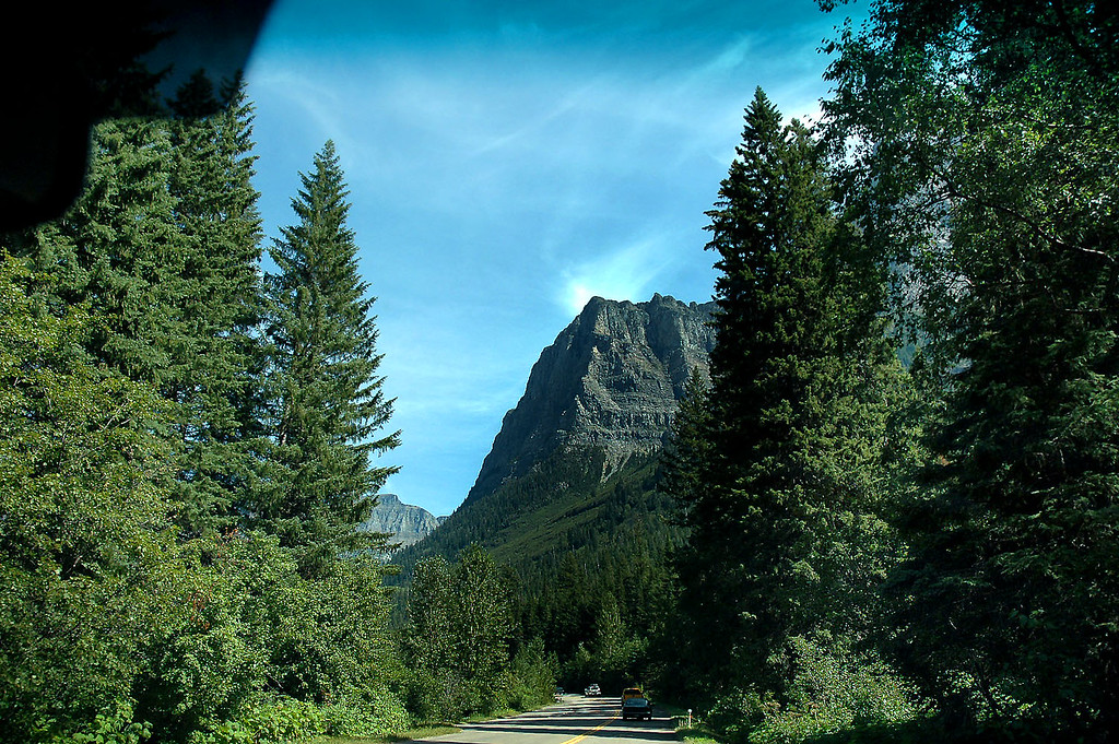 We decided to use the Going To The Sun Road through Glacier Park for the drive to Waterton Lakes. Photo by Helen