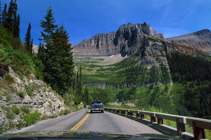 Still on the Going To The Sun Road. Photo by Helen