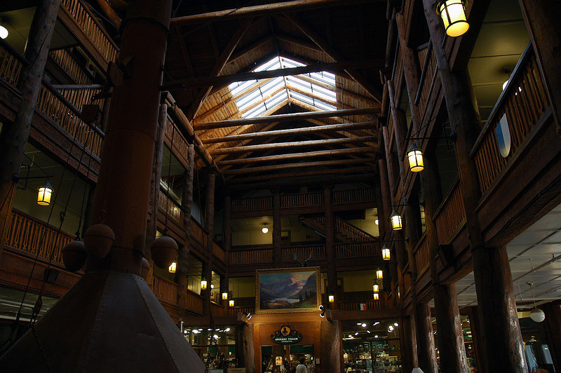 Inside the main lobby.