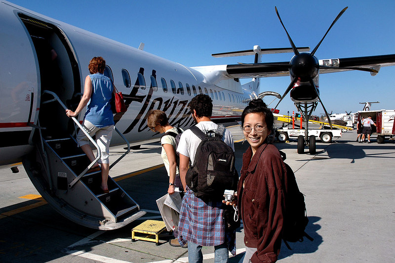 An hour after landing, we boarded a Q400 turboprop for the flight to Kalispell.
