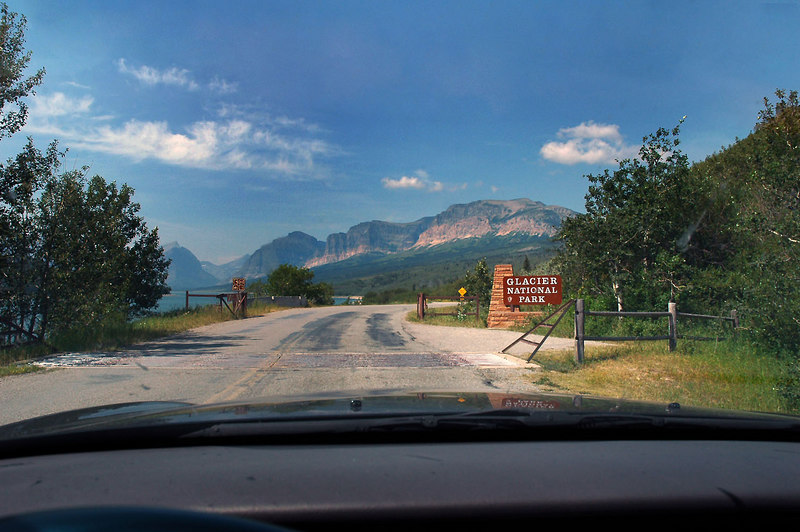 Entering Glacier Park. Photo by Helen