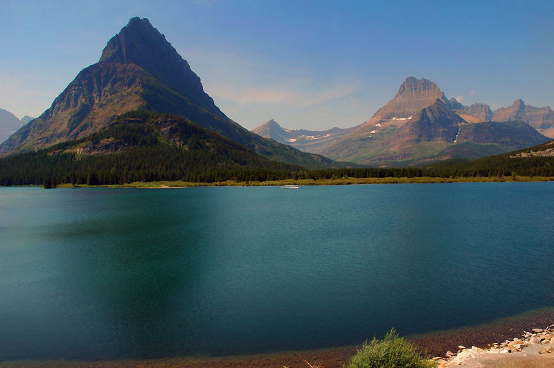 Shot #2. That's Swiftcurrent Lake.