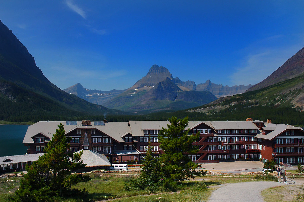 At the Many Glacier Hotel, we stayed here on our last night.