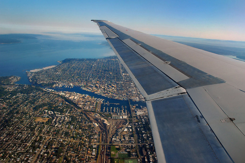 After 2 1/2 hours we arrived at Seattle, Washington. From here we'll take a flight to Kalispell, Montana.