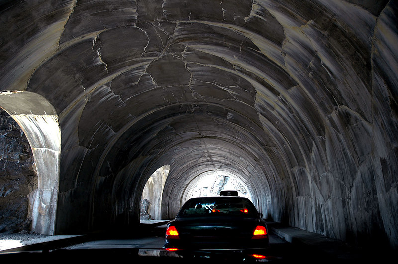 Cool tunnel with windows. Photo by Helen
