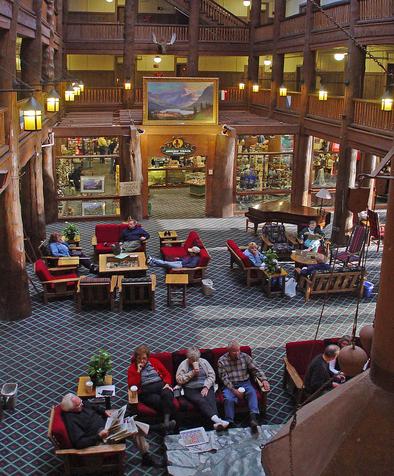 x  Many Glacier Lodge Lobby