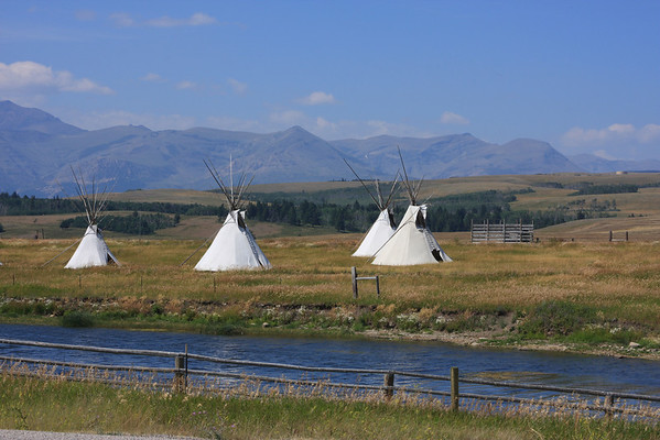 Teepees on Blackfeet Reservation