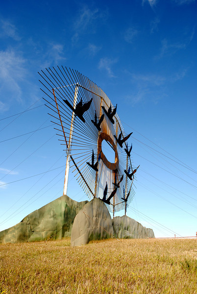 """North Dakota - The Enchanted Highway - <a href=""""http://www.enchantedhighway.net/"""">http://www.enchantedhighway.net/</a><br /> Interesting concept, but the sculptures are spread way out.  This was geese in flight."""
