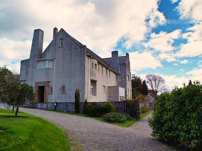 Exterior of Mackintosh's Hill House in Helensburgh - which I managed to visit the day before it opened for the year