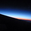 On the night flight to Scotland, the sun never set completely. Just kind of stayed in twilight.