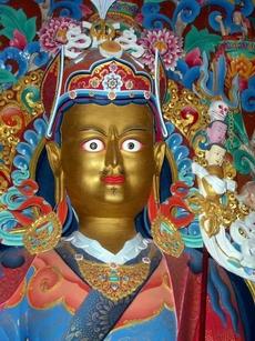 "Guru Rinpoche (""Precious Master""), aka Padmasambhava or Padmakara, is regarded in the Nyingma (Red Hat) school as the second Buddha.  It's his birthday."
