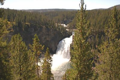 The Upper Falls of the Yellowstone River crashes through the Grand Canyon of the Yellowstone a short distance upstream from the Lower Falls. At 109 ft. high, it was not as dramatic or inspiring as the Lower Falls, but it was  still nonetheless an incredible waterfall.