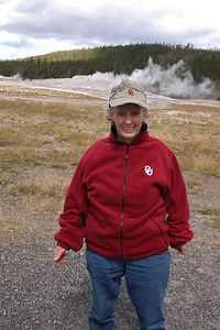 Me at Old Faithful