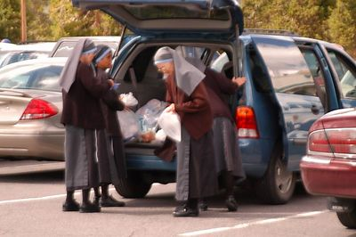 WHO  SAID  THAT NUNS DO NOT HAVE FUN??  I MET THEM.   THEY WERE DELIGHTFUL
