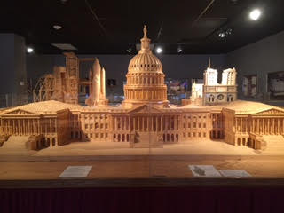 United States Capitol made from matchsticks