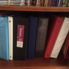 Card Collecting Binders on a Shelf
