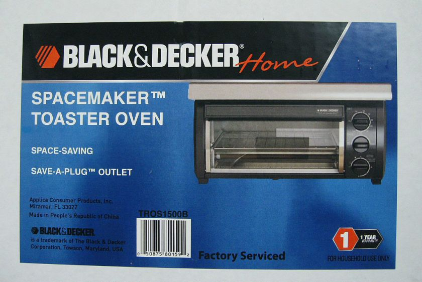 Black and Decker Spacemaker Under Cabinet Toaster Oven