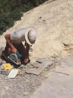 Scientific fossil quarry