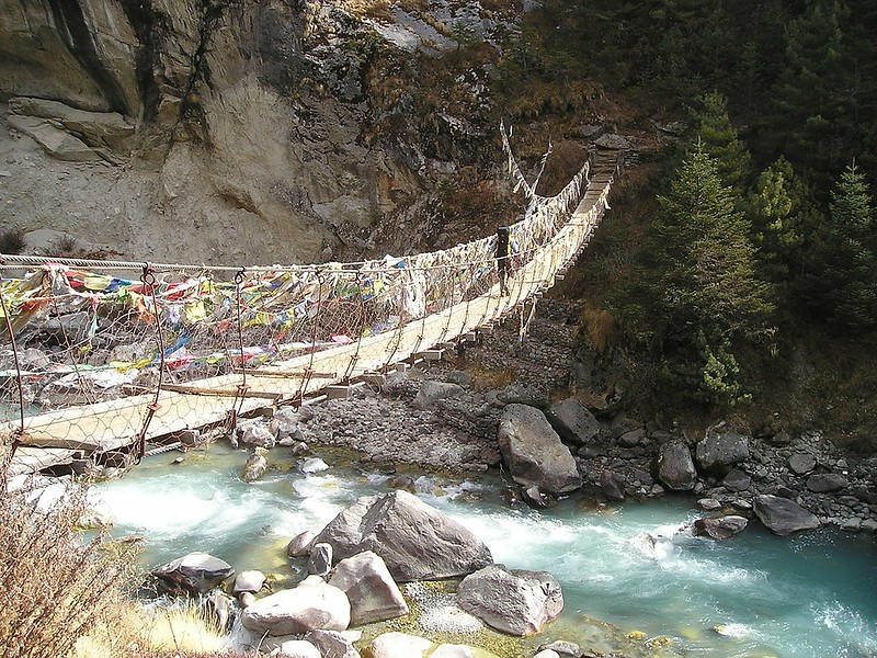 Nepal Himalayas Bridge Everest