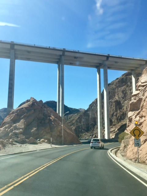 Highway 93 Bridge bypassing Hoover Dam