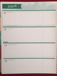 Erin Condren Weekly Planner Calendar
