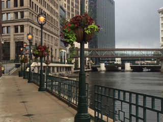 Milwaukee's scenic River Walk